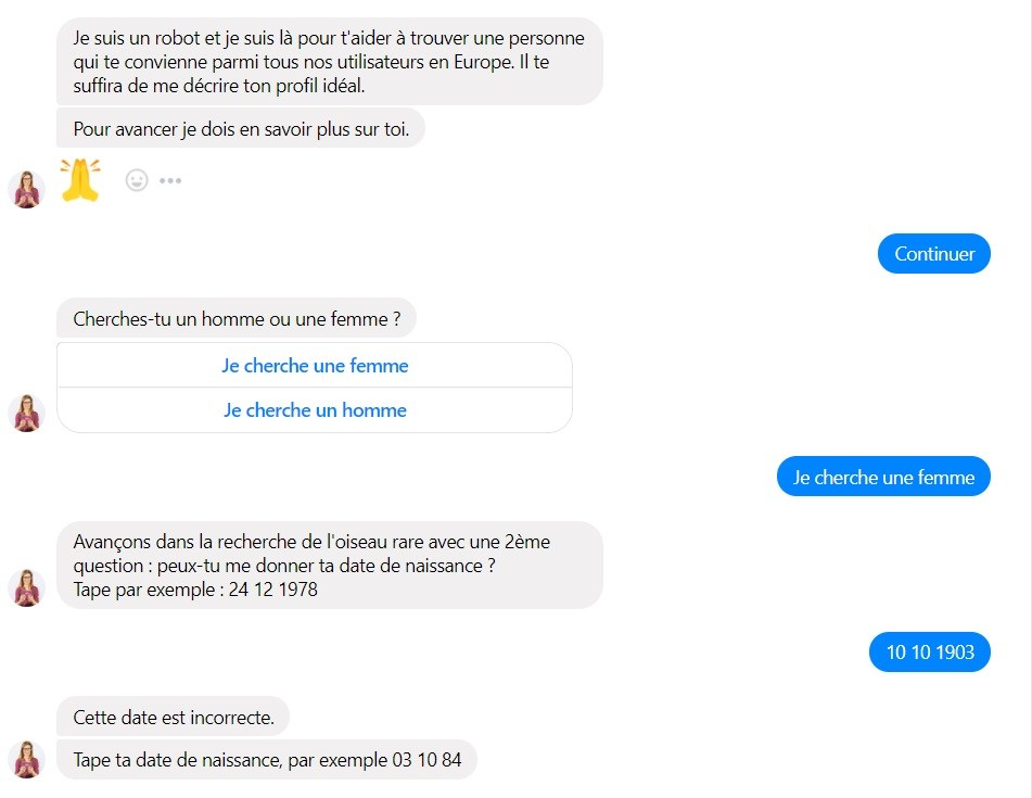 Chatbot Meetic